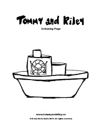 Tommy and Riley: Boat Colouring Page