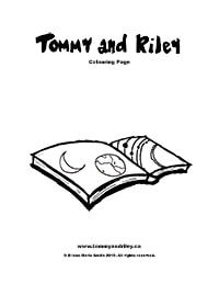 Tommy and Riley: Book Colouring Page