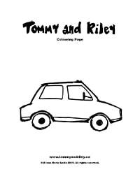 Tommy and Riley: Car Colouring Page