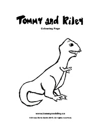 Tommy and Riley: Dinosaur Colouring Page