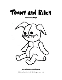 Tommy and Riley Colouring Page: Rabbit